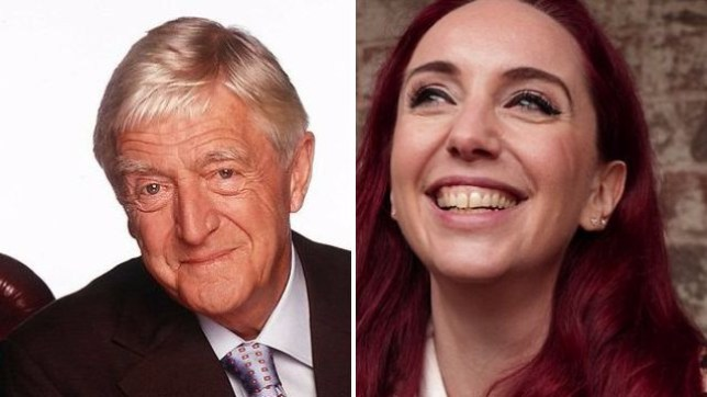 Michael Parkinson and Coronation Street boss Kate Oates
