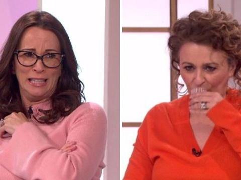 Watch Nadia Sawalha and Kaye Adams drink their own wee live on Loose Women