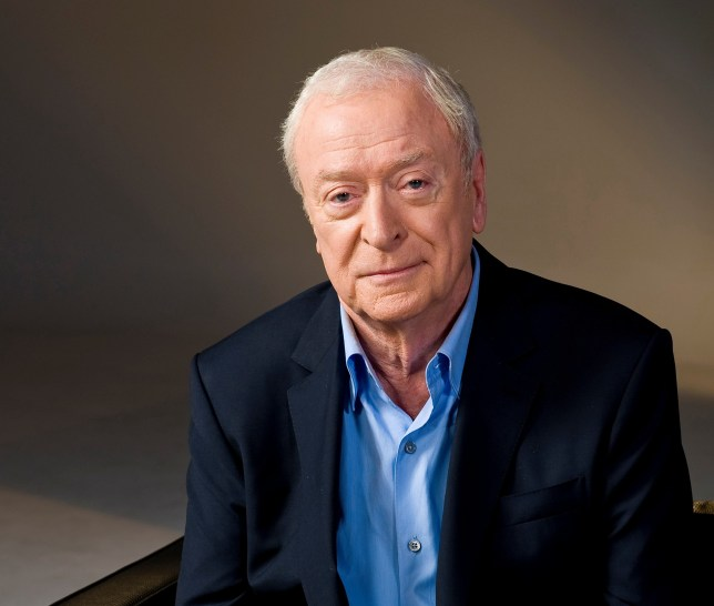 a photograph of actor sir michael caine