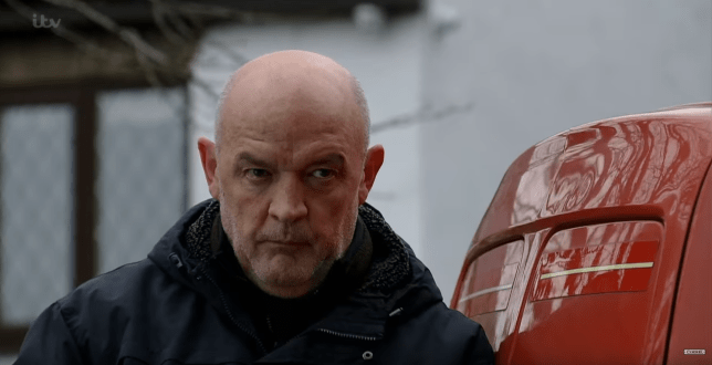 Phelan is caught in Coronation Street