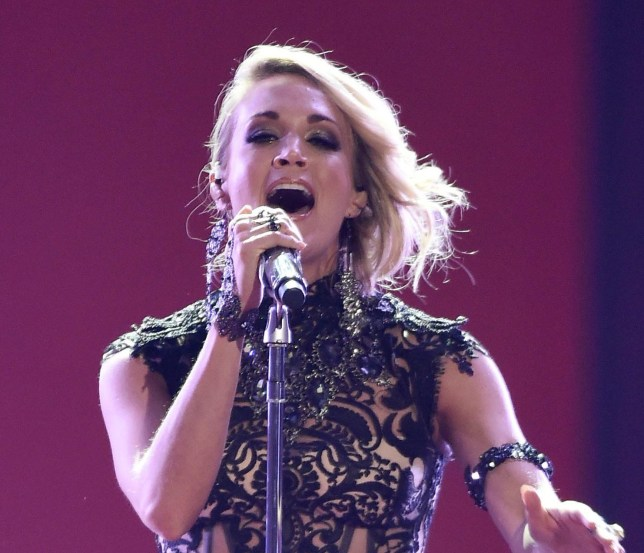 Singer Carrie Underwood performing at CMT Music Awards in Nashville, America on 08 June 2016. Mandatory Credit: Photo by ddp USA/REX/Shutterstock (5718199k)