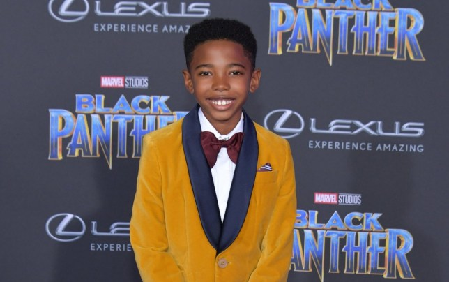 HOLLYWOOD, CA - JANUARY 29: Actor Seth Carr attends the premiere of Disney and Marvel's 'Black Panther' at Dolby Theatre on January 29, 2018 in Hollywood, California. (Photo by Neilson Barnard/Getty Images)