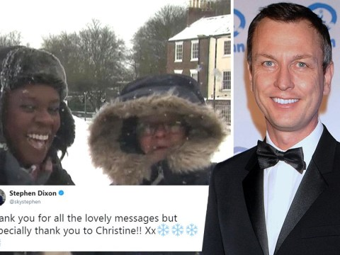 Weather forecaster upstaged by woman with crush on fellow presenter