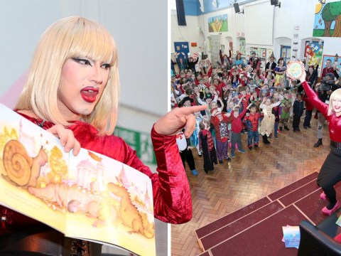 Primary school invites drag queen in to read stories to children