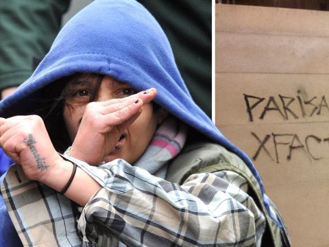 Vandal who scrawled 'X Factor' on cenotaph makes X sign leaving court