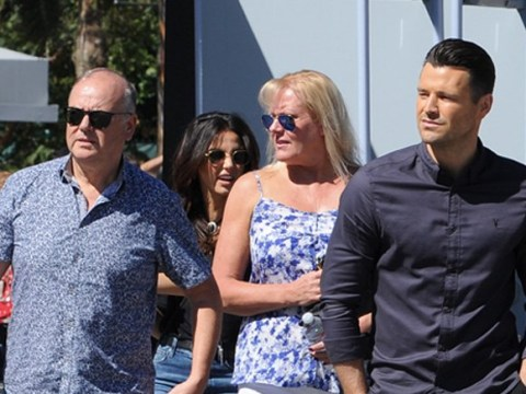 Mark Wright takes the in-laws to work as he and Michelle Keegan put marriage crisis to bed