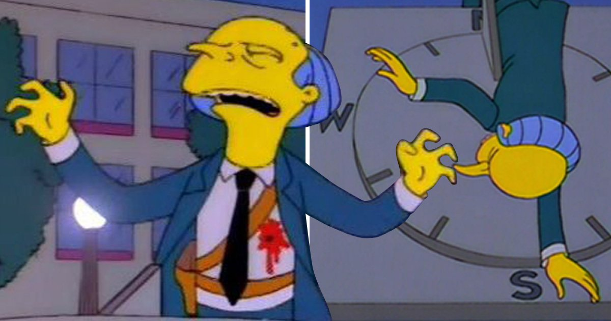 The Simpsons writer reveals they originally had another character shoot Mr Burns