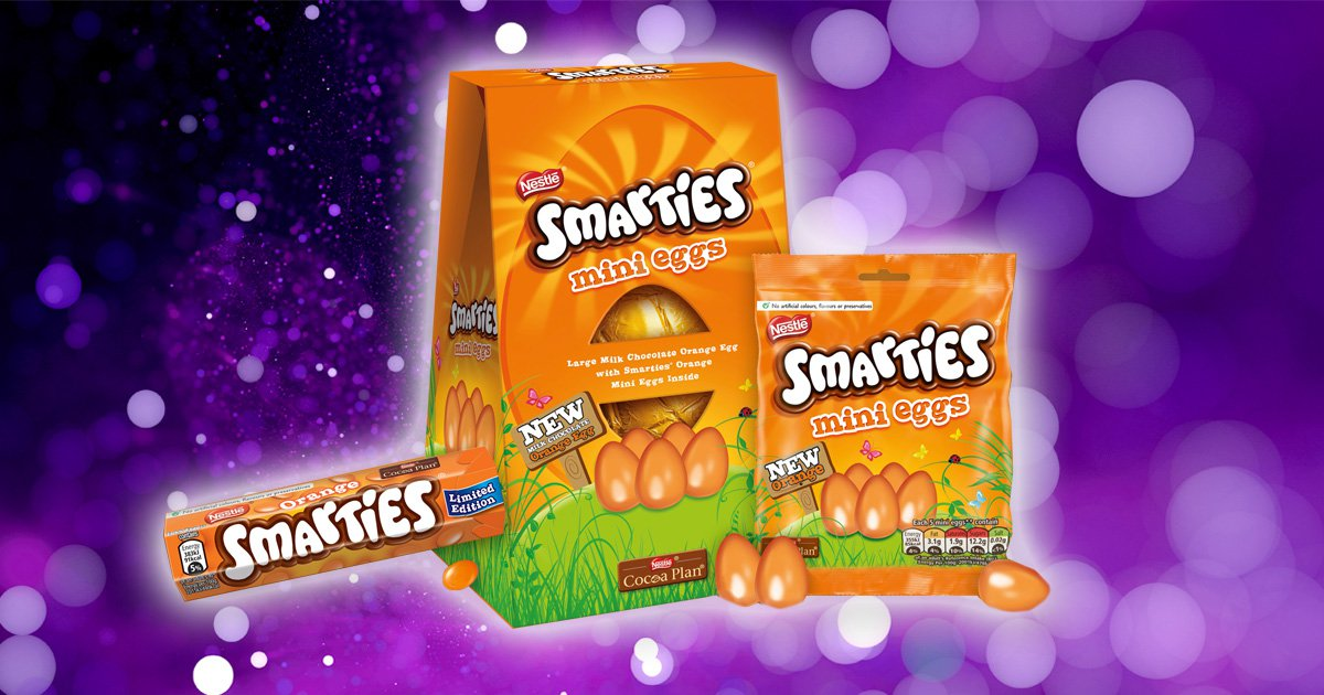 Orange Smarties Easter eggs are now a thing