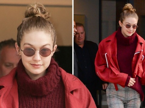 Gigi Hadid is all smiles as she's seen for the first time since split with Zayn Malik