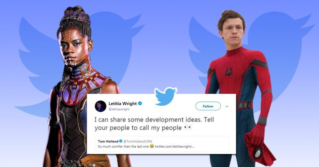 Black Panther's Letitia Wright has ideas for Spider-Man's Tom