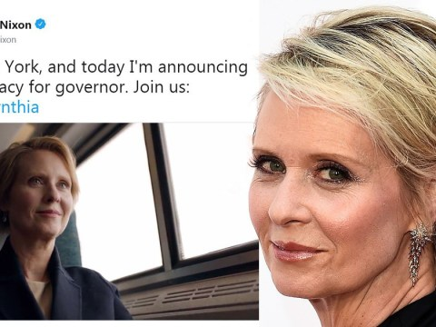 Cynthia Nixon confirms she's running for New York Governor