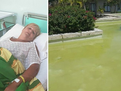 Five star hotel's disgusting green swimming pool 'made woman ill'