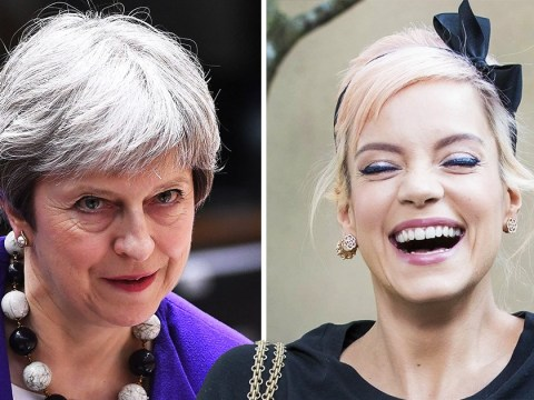 Lily Allen dedicates F**k You to Theresa May
