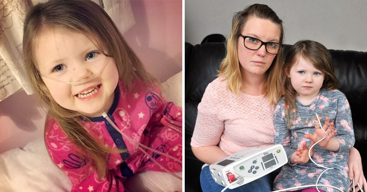 Mum has to watch daughter sleep because she stops breathing 90 times every night