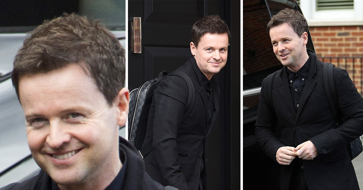 Declan Donnelly looks happy as he's spotted for first time since confirming baby news amid Ant McPartlin hell