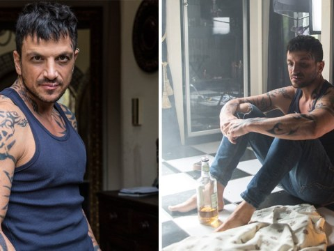 Peter Andre transforms into tattooed drug addict with track marks as he makes movie debut