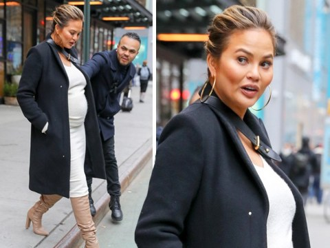Pregnant Chrissy Teigen defends stranger who 'saved her from being hit by cyclist'