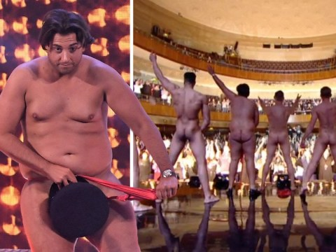 James Argent gets totally naked live on The Real Full Monty after declaring his love for Gemma Collins