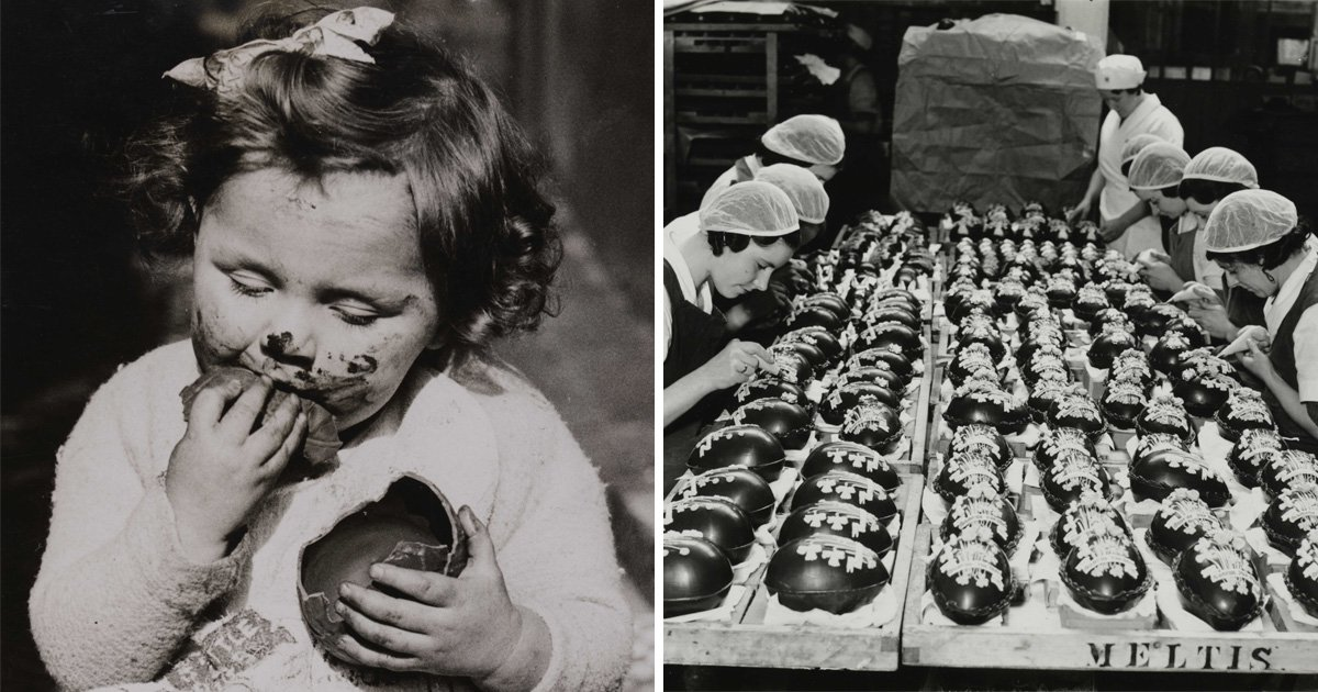 Black and white photos capture Easter celebrations through history