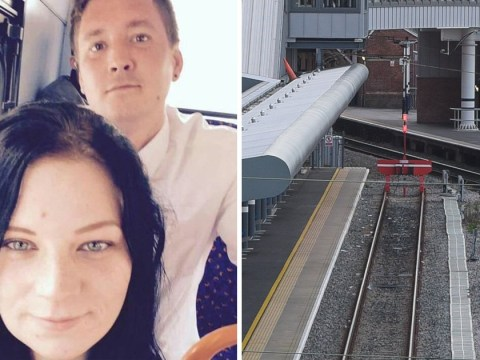 Pictured: Couple killed 'jumping in front of train while hugging'