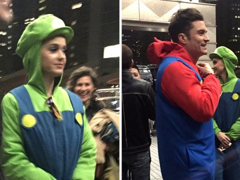 Katy Perry and Orlando Bloom dress up as Mario and Luigi for rare date night and we are obsessed