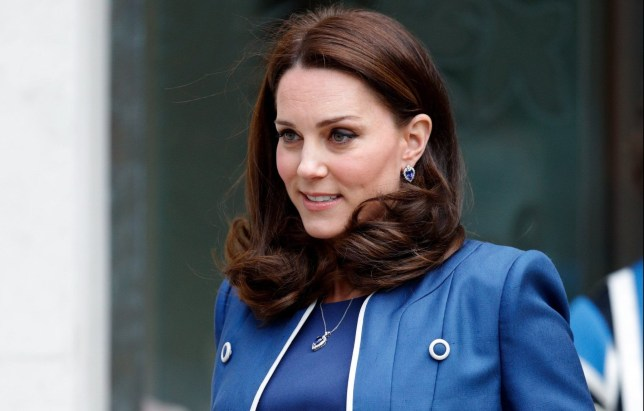 LONDON, UNITED KINGDOM - FEBRUARY 27: (EMBARGOED FOR PUBLICATION IN UK NEWSPAPERS UNTIL 24 HOURS AFTER CREATE DATE AND TIME) Catherine, Duchess of Cambridge visits the Royal College of Obstetricians and Gynaecologists on February 27, 2018 in London, England. (Photo by Max Mumby/Indigo/Getty Images) *** Local Caption *** Catherine, Duchess of Cambridge