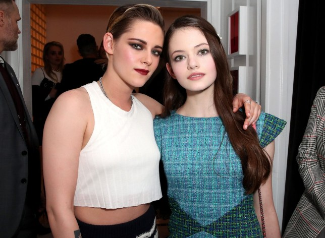 Mandatory Credit: Photo by Chelsea Lauren/WWD/REX/Shutterstock (9445197bq) Kristen Stewart and Mackenzie Foy Chanel Pre-Oscars event, Inside, Los Angeles, USA - 28 Feb 2018