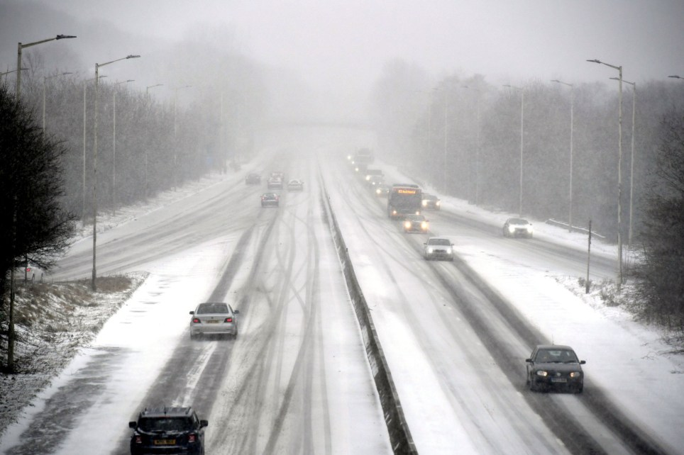 Snow settles on the A48 in to Cardiff, as blizzards are hitting parts of the UK, as freezing conditions and heavy snow continue to wreak disruption. PRESS ASSOCIATION Photo. Picture date: Thursday March 1, 2018. A red weather warning - the second in 24 hours - has been issued for south-west England and south Wales as Storm Emma moves in, meaning the conditions could pose a risk to life. The weather front comes as the UK reels from the effects of the Beast from the East and just hours after a red alert for Scotland ended at 10am. See PA story WEATHER Snow. Photo credit should read: Ben Birchall/PA Wire