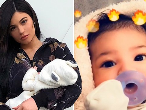 Stormi identical to her mum as Kylie Jenner gives fans first glimpse of her face