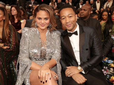 Chrissy Teigen begs fans to 'stop reporting her to Twitter as suicidal' over John Legend sandals post
