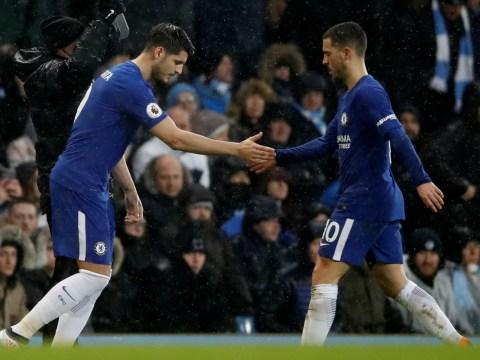 Antonio Conte explains delay in Alvaro Morata's substitution for Eden Hazard
