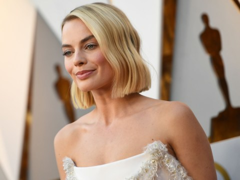 Margot Robbie sewed her own dress after it broke on Oscars red carpet