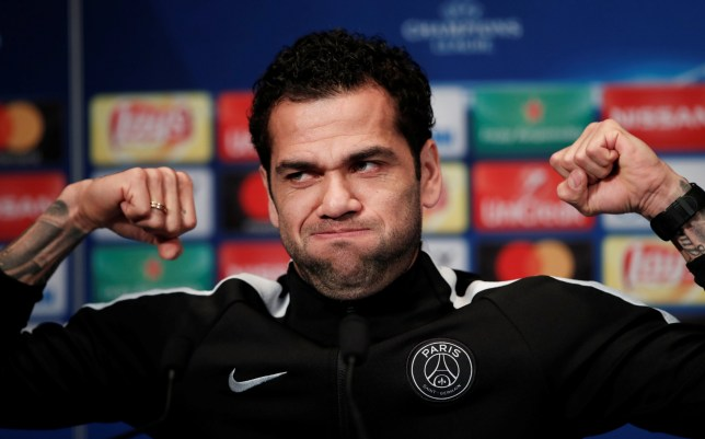 Soccer Football - Champions League - Paris St Germain Press Conference - Parc des Princes, Paris, France - March 5, 2018 Paris Saint-Germain's Dani Alves during the press conference REUTERS/Benoit Tessier