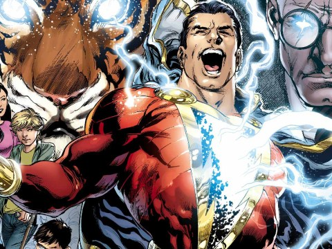 Mark Strong steps into his latest role as Shazam!'s nemesis Doctor Sivana as he battles Zachary Levi