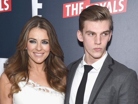 Liz Hurley shares gruesome picture of nephew's stab wound in appeal for information
