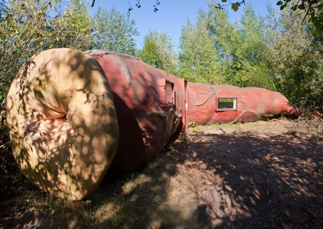 Picture: Verbeke Foundation/ Tineke Schuurmans Drink Wine Inside a Giant Anus