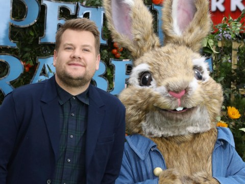 James Corden's dad is very protective as he lashes out at negative Peter Rabbit reviews