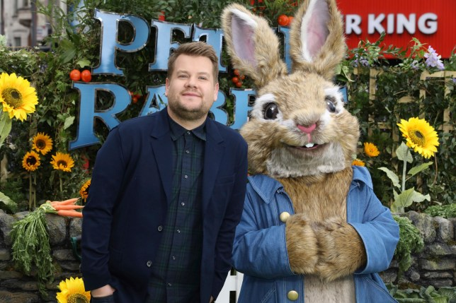 Actor James Corden poses for photographers on arrival at the premiere of the film 'Peter Rabbit', in London, Sunday, March 11, 2018. (Photo by Grant Pollard/Invision/AP)