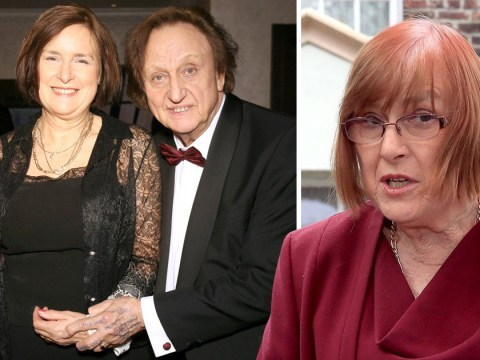 Ken Dodd's wife of two days struggles to hold back tears as she pays tribute to comedian