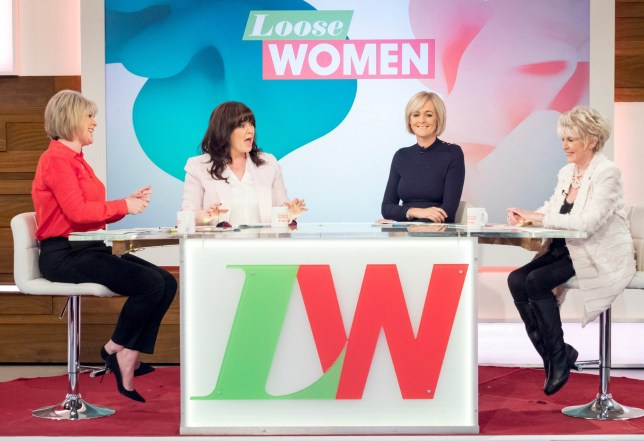 EDITORIAL USE ONLY. NO MERCHANDISING Mandatory Credit: Photo by Ken McKay/ITV/REX/Shutterstock (9456888bz) Ruth Langsford, Coleen Nolan, Jane Moore and Gloria Hunniford 'Loose Women' TV show, London, UK - 12 Mar 2018