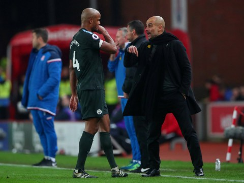 Vincent Kompany reveals Pep Guardiola warned him about Peter Crouch during Manchester City's victory over Stoke