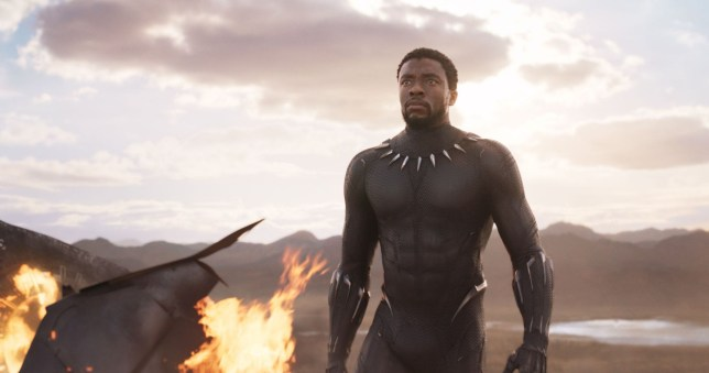"No Merchandising. Editorial Use Only. No Book Cover Usage Mandatory Credit: Photo by Marvel/Disney/Kobal/REX/Shutterstock (9360960j) Chadwick Boseman ""Black Panther"" Film - 2018"