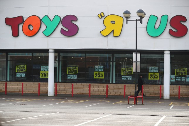 Closing down signs are seen outside the Toys R Us store in Coventry, Britain, March 13, 2018. REUTERS/Hannah McKay