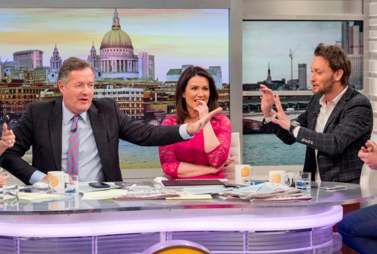 EDITORIAL USE ONLY. NO MERCHANDISING Mandatory Credit: Photo by Ken McKay/ITV/REX/Shutterstock (9457473ca) Piers Morgan, Susanna Reid, Lior Suchard 'Good Morning Britain' TV show, London, UK - 13 Mar 2018 Feted by and performing for Barbra Streisand who describes him as someone extraordinary, Israeli Lior Suchard is a mind reader and mentalist with an international reputation. Hes performed for Kim Kardashian, Elton John, Sylvester Stallone, Bill Clinton and Tony Blair and is a darling of the chat shows. Hell be in the GMB studios performing his mind bending tricks with the presenters. Hell do a demonstration of mind reading through an association game with the presenters, asking them to think of several different objects and their associations.