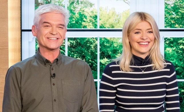 EDITORIAL USE ONLY. NO MERCHANDISING Mandatory Credit: Photo by Ken McKay/ITV/REX/Shutterstock (9457619cp) Phillip Schofield and Holly Willoughby 'This Morning' TV show, London, UK - 13 Mar 2018