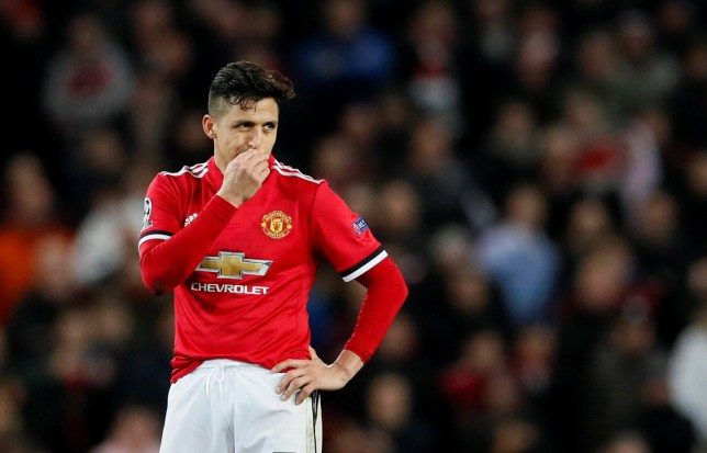 Soccer Football - Champions League Round of 16 Second Leg - Manchester United vs Sevilla - Old Trafford, Manchester, Britain - March 13, 2018 Manchester United???s Alexis Sanchez looks dejected REUTERS/David Klein