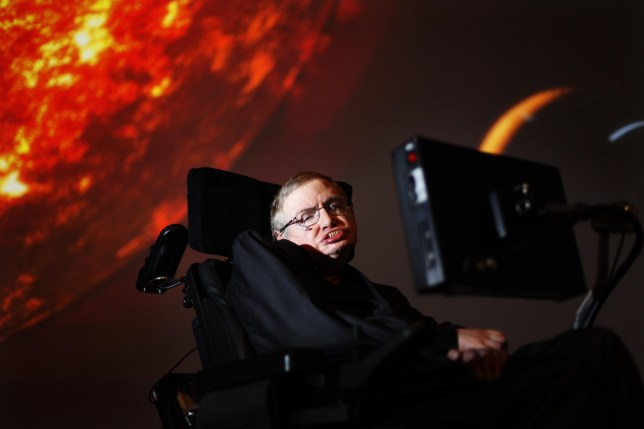 File photo dated 29/04/10 of Professor Stephen Hawking, who has died aged 76, watching the first preview of his new show for the Discovery Channel, Stephen Hawking's Universe. PRESS ASSOCIATION Photo. Issue date: Wednesday March 14, 2018. See PA story DEATH Hawking. Photo credit should read: David Parry/PA Wire