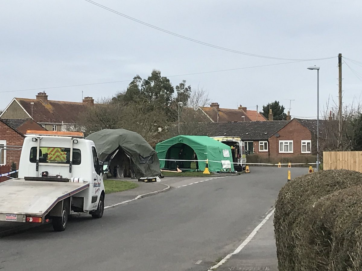 The investigation into the attempted murder of a former Russian spy Sergei Skripal in Salisbury has been extended to Gillingham in Dorset. Sergei and Yulia Skripal were poisoned, by what the Government believes was a military grade nerve agent created by Russia, on Sunday, March 4. It is understood that the Metropolitan Police is in charge of a new cordon. March 14 2018.