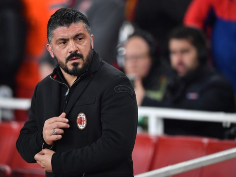 Video: Gennaro Gattuso rages over Danny Welbeck dive during Arsenal v AC Milan tie