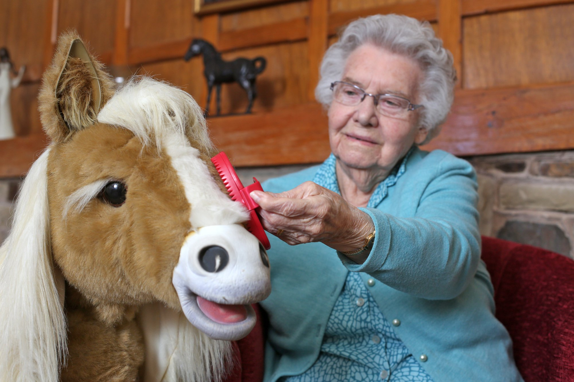 Care home now has robotic horses and dogs to help combat loneliness in elderly residents